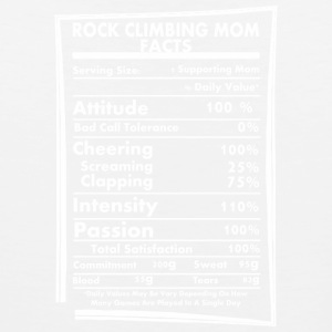 Rock Climbing Mom Facts Daily Values May Be Vary - Men's Premium Tank