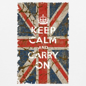 UK Flag and Keep Calm Hybrid - Men's Premium Tank