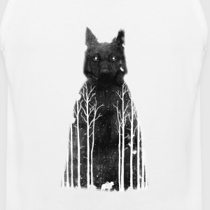 A wolf in the dark - Men's Premium Tank