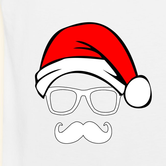 Santa with Geek and Mustache