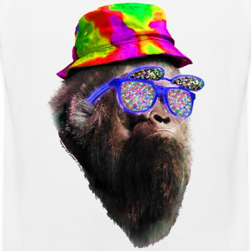 Sasquatch Bigfoot Rave Raving Tie Dye - Men's Premium Tank