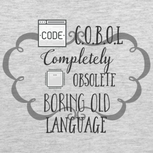 C O B O L Completely Obsolete Boring Old Language - Men's Premium Tank