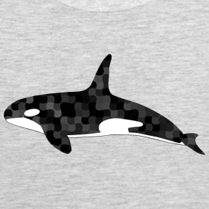 Black and white camouflage orca - Men's Premium Tank