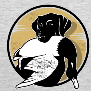A dog with duck - Men's Premium Tank