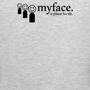 Myface a place to sit - Men's Premium Tank