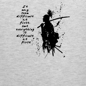 A Samurai Quotes - Men's Premium Tank