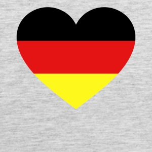 Germany Flag Love Heart Patriotic Symbol - Men's Premium Tank
