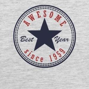 58th Birthday Awesome since T Shirt Made in 1959 - Men's Premium Tank