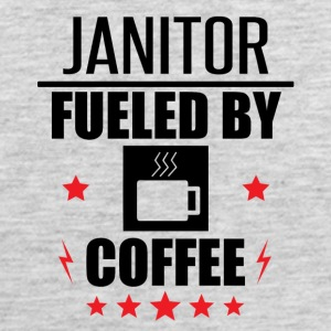 Janitor Fueled By Coffee - Men's Premium Tank