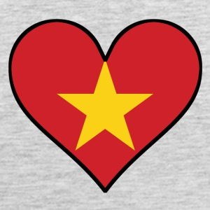Vietnamese Flag Heart - Men's Premium Tank