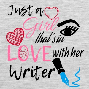 A girl that's in love with her writer - Men's Premium Tank
