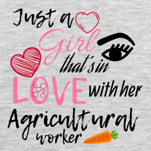 A girl that's in love with her agricultural worker - Men's Premium Tank
