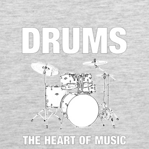 Drums The Heart Of Music - Men's Premium Tank