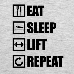 EAT SLEEP LIFT REPEAT - Men's Premium Tank