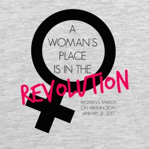 A Woman's Place is in the Revolution Shirt - Men's Premium Tank