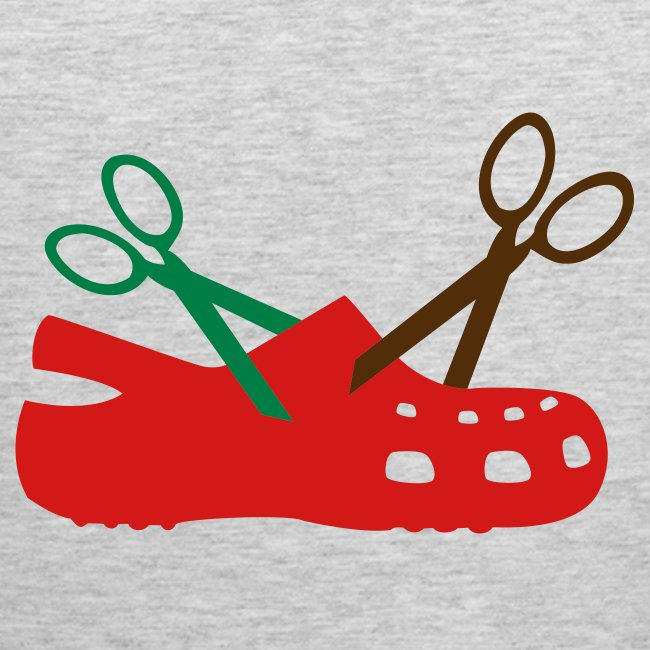 I Hate Crocs Scissor Design