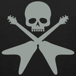 skull with crossed guitars - Men's Premium Tank