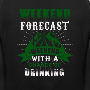 weekend with parties, drinking t-shirt - Men's Premium Tank