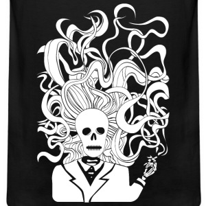 smoking skeleton white - Men's Premium Tank
