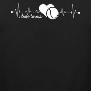 Tennis Heartbeat Shirt - Men's Premium Tank
