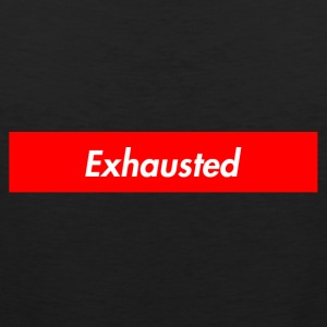 exhausted supreme logo - Men's Premium Tank