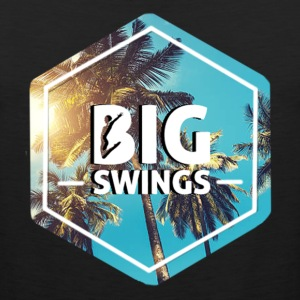 Big Swings Palm Tree Logo Design - Men's Premium Tank