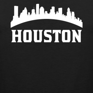 Vintage Style Skyline Of Houston TX - Men's Premium Tank