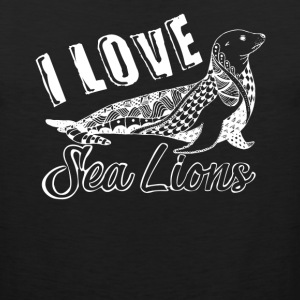 Love Sea Lions Shirt - Men's Premium Tank