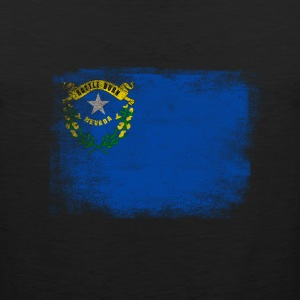 Nevada State Flag Distressed Vintage - Men's Premium Tank