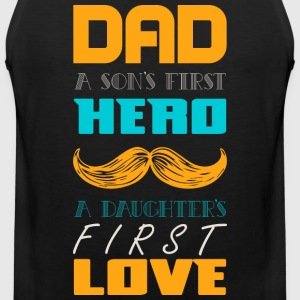 Dad A Son 039 s First Hero - Men's Premium Tank