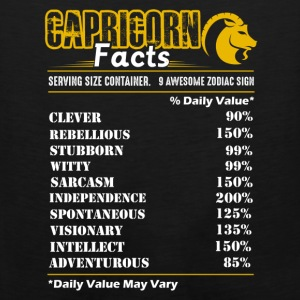 Capricorn Facts Tee Shirt - Men's Premium Tank