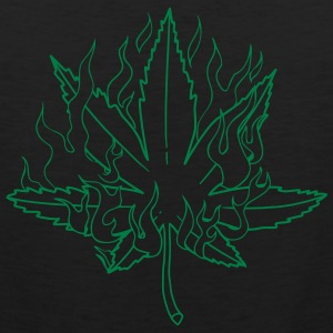 Flaming Pot Leaf - Men's Premium Tank
