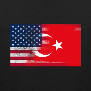 Turkish American Half Turkey Half America Flag - Men's Premium Tank
