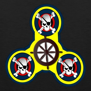 Fidget Spinner - CROSS BONES AND SKULLS - Men's Premium Tank