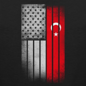 Turkish American Flag - Men's Premium Tank