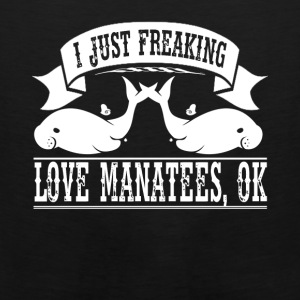 Freaking Love Manatees Shirt - Men's Premium Tank
