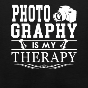 Photography Is My Therapy Tee Shirt - Men's Premium Tank