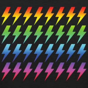 Retro Rainbow Lightning Bolt Repeated Pattern - Men's Premium Tank