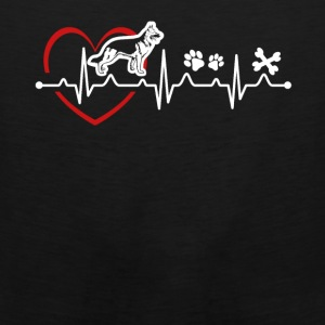 Belgian Malinois Love Heartbeat Tee Shirt - Men's Premium Tank