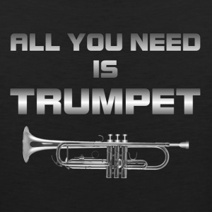 All you need is trumpet silver color - Men's Premium Tank