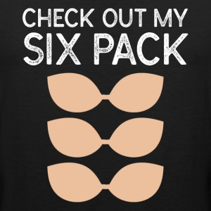 Check Out My Six Pack Bra - Men's Premium Tank