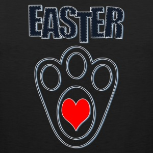 Easter Bunny Footprints, Easter Heart Bunny - Men's Premium Tank