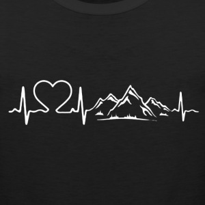 Love Mountains Heartbeat Shirt - Men's Premium Tank