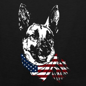 German Shepherd USA Shirt - Men's Premium Tank