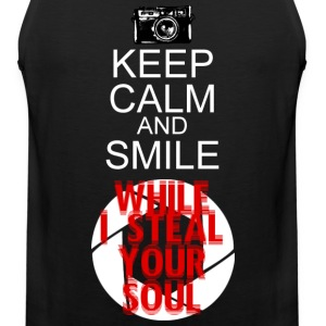 KEEP CALM AND SMILE WHILE I STEAL YOUR SOUL - Men's Premium Tank