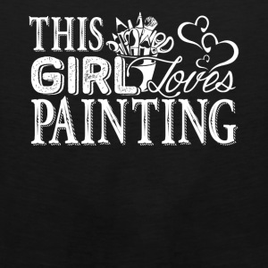 Girl Loves Painting Shirt - Men's Premium Tank