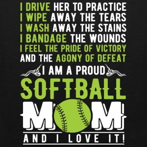 Proud Softball mom - Men's Premium Tank