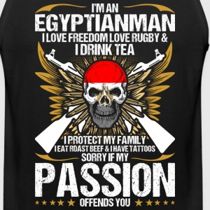 Im An Egyptianman I Love Freedom Love Rugby - Men's Premium Tank