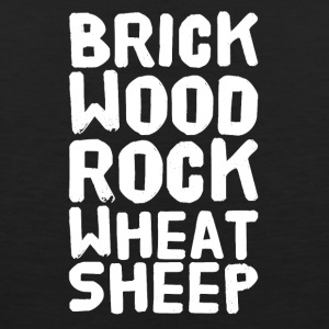 Brick wood rock wheat sheep - Men's Premium Tank