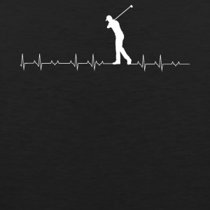 Golf heartbeat lover - Men's Premium Tank